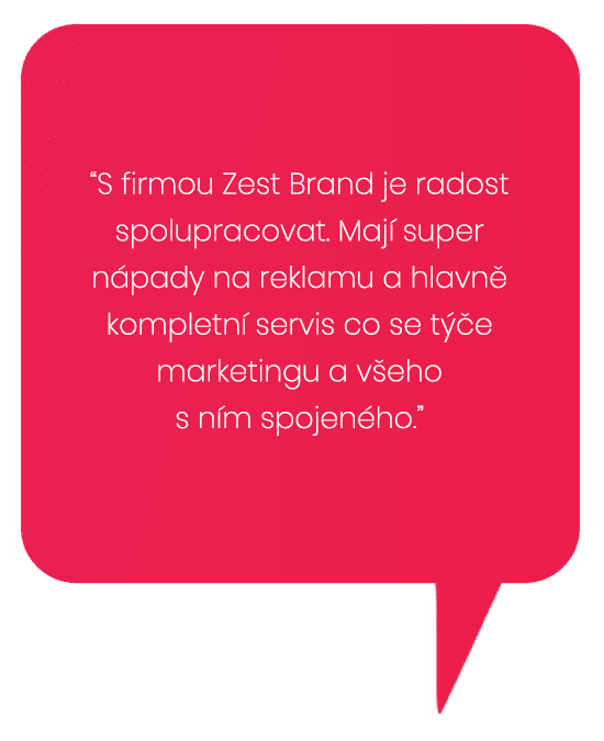 Reference na marketing od Zest Brand Tábor